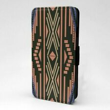 Boho Estampado Geométrico Diseño Funda Libro para Apple Iphone - P77