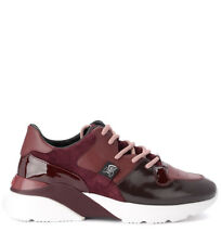 Sneaker Hogan H385 Active One in pelle e suede rossa