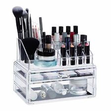 Cosmetic Organiser with 2 Drawers, Acrylic Makeup Kit, Lipstick Holder, Large