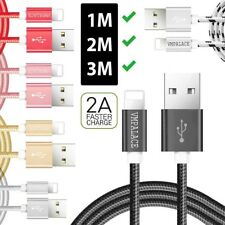 Braided Fast Charging USB Cable Sync Data Charger For Apple iPhone X 6s 7 8 Plus