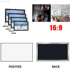 "075B 150""16:9ElectricMotorized HD 3D Projector Screen Projection Home Theater"