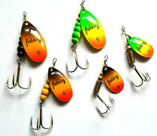Aglia Mepps Metal Spinners Lures Sea Trout Pike Perch Salmon Bass Fishing Tackle