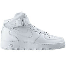 Nike Air Force 1 One Mid 07 Uomo High Scarpe Bianche Sneaker in pelle 315123-111
