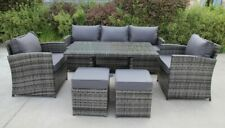 RATTAN WICKER CONSERVATORY OUTDOOR GARDEN FURNITURE DINING SET CORNER SOFA TABLE