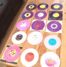 "PINK / PURPLE COLOURED VINYL SINGLES 45RPM 7"" VINYL RECORDS SOME BRAND NEW EX CO"