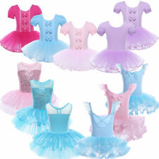 Girls Kids Ballet Leotard Dance Tutu Dress Gymnastic Ballerina Dancewear Costume