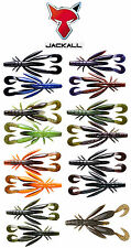 "Jackall Chunk Craw 3.5""  5pk Soft Plastic Crawfish Bass Fishing Creature Bait"