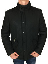 Barbour International Mens Powell Quilted Jacket in Black Size XXL Left