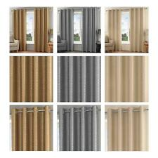 Madison Lined Eyelet Curtains Luxury Faux Silk Ready Made Ring Top Curtain Pairs