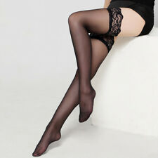 Women Sexy Lace Thigh High Over Knee Socks Long Stockings Hosiery Dance Club