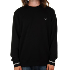 Fred Perry Crew Neck Sweat - Black