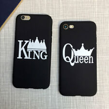 LK _ Rey Reina Corona COUPLE Funda carcasa para iPhone x 5 5s 6s 6 7 8 Plus T