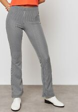 TOPSHOP PETITE Striped Flare Trousers 26E37N womens young ladies,slim fit stripe