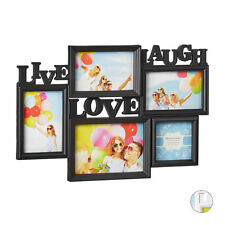 Marco de fotos múltiple 5, Live Love Laugh, Collage personalizado, Para pared