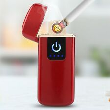 USB Rechargeable Fingerprint Touch Flameless Windproof Plasma Electric Lighter