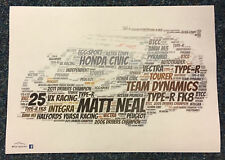 2018 BTCC Drivers / Teams / Cars Created using Colour Word Art ~ A4 Poster