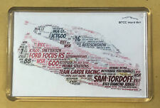 2018 BTCC Drivers / Teams / Cars Created using Colour Word Art ~ FRIDGE MAGNET