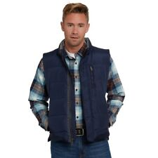 Mens Quilted Down Puffer Gilet Vest Body Warmer Waistcoat Padded Jacket Outwear