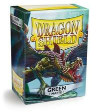Dragon Shield: Standard Matte Card Sleeves - Green 100ct