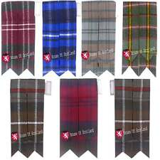 HS Scottish Kilt Hose Socks Flashes Various Tartans Garter Pointed Acrylic Wool