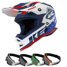 KENNY Track Motocross Kinder Helm 2019 weiss rot + MX Bude MX4 kinder Brille MX