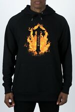 ed65a8122e7 TRAPSTAR LONDON IRONGATE T INFERNO OVERHEAD HOODY BLACK FIRE SIZE S M L   BNWT