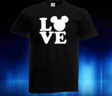 LOVE DISNEY Kids T-Shirt, GLOW IN THE DARK, Mickey Mouse Head also in adult size