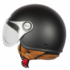 SPADA JET STREAM MATT BLACK OPEN FACE MOTORCYCLE MOTORBIKE HELMET