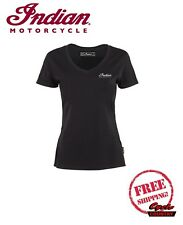 GENUINE INDIAN MOTORCYCLE BRAND T-SHIRT TEE WOMENS LADIES FTR 1200 LOGO GRAY NEW
