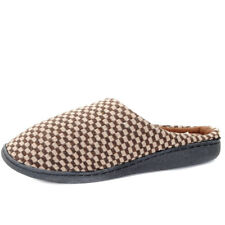 Mens Checkered Clog Mule Slippers Indoor Bedroom Slip On Shoes Size