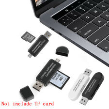 Micro USB OTG a USB 2.0 Adapter Lector de tarjetas SD Para Android Phone Tablet.