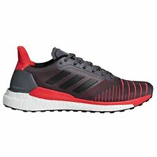 adidas Solar Glide Mens Fitness Running Trainer Shoe Grey/Red