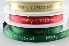 Happy Merry Christmas Ribbon Gift Wrapping Bows Packaging 20 Metres