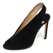 F0866 sandalo donna black JIMMY CHOO SHAR scarpe suede shoe woman