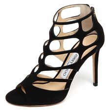 F0854 sandalo donna black JIMMY CHOO REN sandal scarpe shoe woman