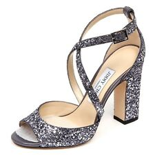 F0874 sandalo donna dark grey JIMMY CHOO CARRIE scarpe glitter stars shoe woman