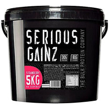 Serious Gainz Weight Gainer 5kg Elite Mass Gainer Whey Protein  +Sample