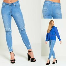 Womens Pearl Embellished Jeans Sizes 6-14