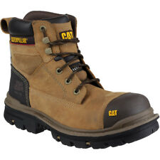 Caterpillar Mens Gravel 6 Inch Leather Work Safety Boots Brown