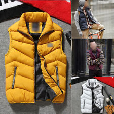 New Winter Mens Cotton Padded Down Vest Jacket Warmer Gilet Coat Top Outerwear