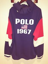 """Polo Ralph Lauren """"Polo 1967 Flag"""" Big Pony Hoodie in Red, White & Blue"""