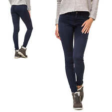 Only Damen Skinny Jeans Unifarben Basic Dark Wash Damenhose Lange Hose