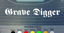 GRAVE DIGGER VINYL DECAL STICKER CUSTOM SIZE/COLOR ACCEPT RUNNING WILD RAGE