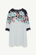 ZARA MULTICOLOURED FLORAL AND POLKA DOT PRINT DRESS UK SIZE M, L BNWT