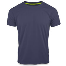 Stedman Raglan Active 140 Lightweight Breathable Sports T-Shirt Top Navy Blue