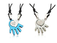 Amor en Mano Acero Inoxidable Hecho a Mano Colgante Collar Fashion Jewelry