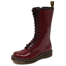 F1396 (NO BOX) anfibio donna red DR. MARTENS cut scratched shoe boot woman