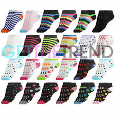 6, 12, 24 Pairs Womens Trainer Cotton Sock Ladies Ankle Socks Summer Shoe Liners