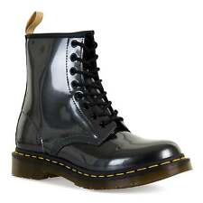 Dr Martens Womens 1460 Vegan Chrome Boots (Gunmetal)