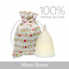 EvaCup Menstrual Cup - Moonstone (Clear) - UK Seller